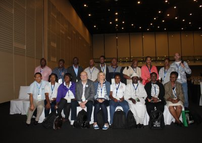 The delegates from the various African nations that attended the conference