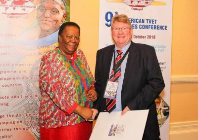 Pan African TVET Conference_2018_ (Minister Naledi Pandor and Chris Brink, the conference convener)